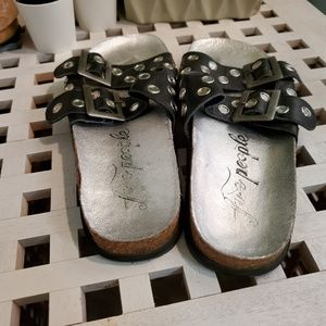 Free People Shoes - Free People Studded Vegan Leather Boho Sandals